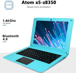 Tocosy Laptop 10.1Inch Quad Core Windows 10 HD Graphics Ultra Thin Computer PC, 2GB RAM 32GB Storage 1.92GHZ USB 2.0